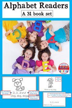 Teaching The Alphabet, Alphabet Book, Learning Letters, Teaching Kids, Kids Learning, Preschool Sight Words, Preschool Curriculum, Kindergarten Literacy, Kindergarten Activities