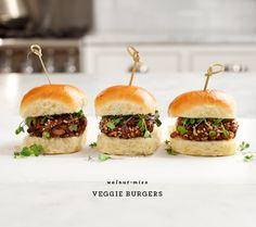 walnut-mushroom veggie burgers