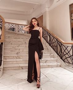 Girls Fashion Clothes, Kpop Fashion Outfits, Ulzzang Fashion, Fashion Dresses, Korean Fashion Dress, Asian Fashion, Look Fashion, Pretty Dresses, Sexy Dresses
