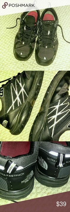 Mens North Face trail Running shoes sz 12 Good condition.  Vibram sole. Ultra Fastpack. North Face Shoes Athletic Shoes