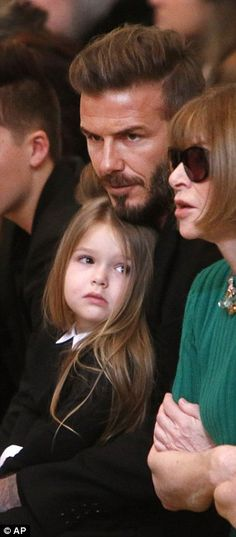 Victoria Beckham's husband and children show support at NYFW show #dailymail