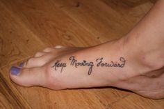keep moving forward. [perfect running tattoo]
