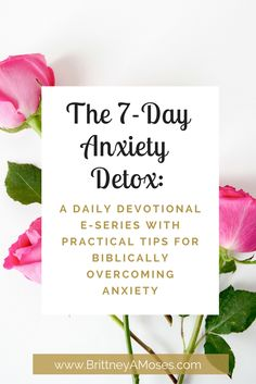 You guys, My 7-Day Anxiety Detox E-Series is here !  Are you ready to kiss anxiety good-bye and reclaim your life?! Let's do it!