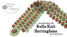 This video tutorial from The Potomac Bead Company teaches you how to make our 'Knitted Herringbone' bracelet, this time using Czech two-hole Rullas instead o...
