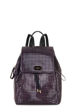 Backpacks are back and better than ever. In luxurious stud affect Plum Patent. The Gwyneth backpack is perfect for fitting in all your daily essentials whilst also staying on trend this Winter.