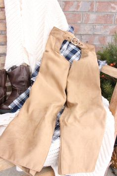Boys Light Brown Fitted Chaps Size 5 by LittleBuckarooShop on Etsy