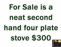 Selling a neat second hand four plate stove http://www.siyasomarket.com/classified/clsId/15320/selling_a_neat_second_hand_four_plate/
