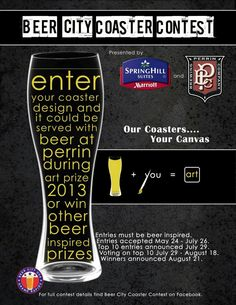 Love beer? Love art? Don't miss ArtNight 2013, hosted by SpringHill Suites Grand Rapids North and Perrin Brewing Company on August 21. Entries from the Beer City Coaster Contest will be on display and one lucky winner will receive a free night stay at the hotel, a chance to learn more about brewing from the pros, and their coaster design printed and served with drinks this fall. Vote for your favorite finalists now through August 18 - http://on.fb.me/164mena ‪#‎Art‬ ‪#‎Beer‬ ‪#‎Marriott‬