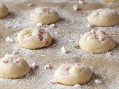 White Peppermint Snowballs. I don't think I'll be using store-bought, pre-made dough...but I like the idea.