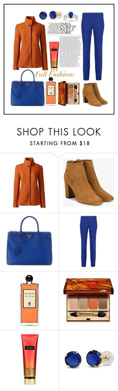 """"""": Fall into Fashion :"""" by fhawn ❤ liked on Polyvore featuring Lands' End, Aquazzura, Prada, DKNY, Serge Lutens, Clarins, Victoria's Secret and Fall"""