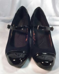 Clarks Bendable Mary Jane Pump Womens Shoes 6 M Black Leather Heels #Clarks #MaryJanes #SpecialOccasion