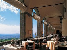 "Villa San Michele, Fiesole, Italy. ""You cannot beat the ambience"" at this former monastery on a cliffside amid trees and terraced gardens just outside Florence. Suites come with ""unbelievable views of the City of Lilies."""