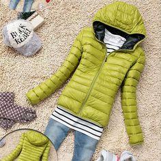Cotton Hooded Women Jacket Winter Thicken Slim Padded Coat
