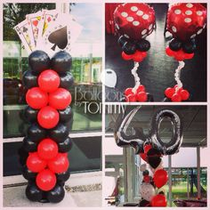 Find out how lucky you are with this Casino themed party! #balloonsbytommy #casino #party
