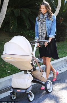 Model and beautiful new Mum Stacy Keibler glows with #Stokke  via Daily Mail