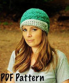 @Michelle Weitzel Womens Flapper Hat Pattern, Crochet Pattern, Crochet Cloche Pattern,  Womens Crochet Hat Pattern