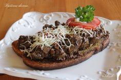 TOPINKY S JÁTROVOU SMĚSÍ Toast, Pizza, Beef, Food, Style, Meat, Swag, Essen, Meals
