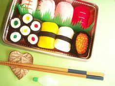 Handmade Pretend Play Toy Japanese Food Sushi Set Felted House Play Kawaii Zakka Japan by Kawaii Japan, via Flickr