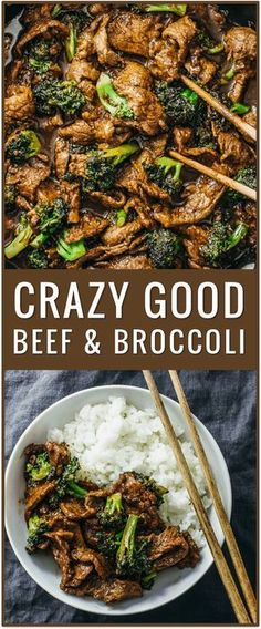 easy beef and broccoli recipe, slow cooker, healthy, authentic Chinese recipe, simple, stir fry, lunch, dinner, steak, rice via @savory_tooth