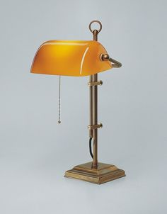 Bankers Lamp With Green Shade Brass Finish Office Reading . Home and furniture ideas is here Orange Desks, Bankers Desk Lamp, Whiskey Room, Cleaning Hacks, Interior Inspiration, Building A House, Table Lamp, House Design, Lights