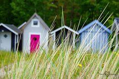 Beach huts in Ystad, Sweden