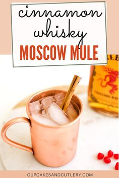This tasty Cinnamon Whisky Mule is a great cocktail idea for Valentine's day and beyond! With Fireball and ginger beer, this easy mixed drink is full of flavor and fun to share with friends.