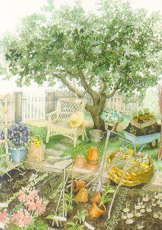 Inge Look, Grannies Garden by 9teen87's Postcards