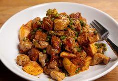 Csirkés aprópecsenye Gluten Free Recipes, My Recipes, Chicken Recipes, Jambalaya, Kung Pao Chicken, Free Food, Food And Drink, Turkey, Meals
