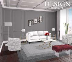 Posh living room design by tiffani valencia