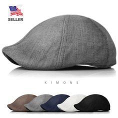 Duckbill-Linen-Newsboy-Cotton-Gatsby-Cap-Mens-Ivy-Hat-Golf-Summer-Sun-Flat