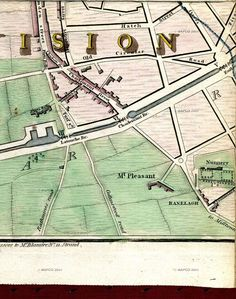 Modern Plan Of The City And Environs Of Dublin Published as the Act directs for W. Wilson & sold by the Booksellers and Printsellers in London & Dublin, June ~ Dublin Street, Dublin City, London Map, British Isles, Vintage Photos, Ireland, Buildings, Pictures, Things To Sell