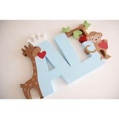 Başka bir #ali ⭐️ Baby Letters, Wood Letters, Diy For Kids, Crafts For Kids, Wooden Name Signs, Diy Baby Gifts, Name Gifts, Letter A Crafts, Creative Walls