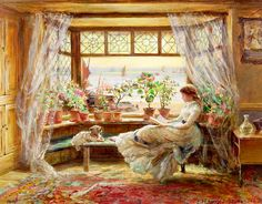 Charles James Lewis / Reading by the Window Hastings