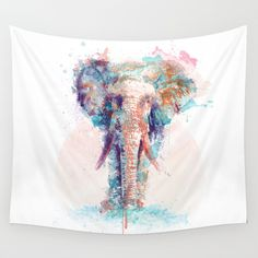 Buy Elephant by I AM DIMITRI as a high quality Wall Tapestry. Worldwide shipping available at Society6.com. Just one of millions of products available.