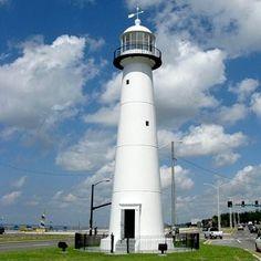 14 Great Lighthouse Day Trips - Biloxi Lighthouse, Biloxi,    MS.