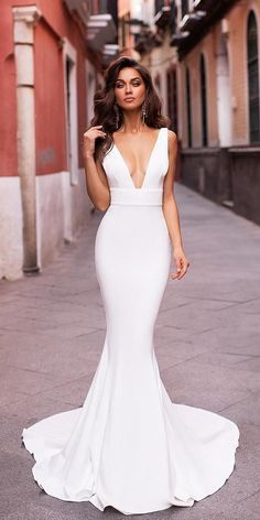 27 Unique & Hot Sexy Wedding Dresses ❤ sexy wedding dresses ideas simple mermaid pluning neckline alamourthelabel Gorgeous Embroidered Off Shoulder Mermaid Wedding Dress Cute Wedding Dress, Wedding Dress Trends, Wedding Dress Styles, Dream Wedding Dresses, Designer Wedding Dresses, Bridal Dresses, Wedding Gowns, Wedding Bride, Civil Wedding