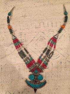 A personal favorite from my Etsy shop https://www.etsy.com/listing/230980160/moroccan-necklace