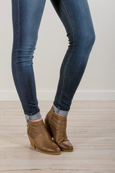 RubyClaire Boutique - The Kinlee Booties, $48.00 (https://www.rubyclaireboutique.com/the-kinlee-booties/)