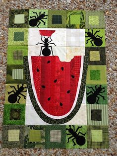 A Quilt and A Prayer: May NewFO Challenge ~ What an adorable quilt to bring for a PICNIC!  Love it! (Hmmm... Matching napkins would be great!)