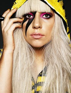 See Lady Gaga pictures, photo shoots, and listen online to the latest music. Tatuagem Lady Gaga, Lady Gaga Makeup, Lady Gaga The Fame, Lady Gaga Artpop, Rock Makeup, Roller Derby Girls, The Fame Monster, Monster Makeup, Lady Gaga Pictures