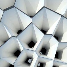 Cones as facade - Public building in Spain Art And Architecture, Architecture Details, Biomimicry Architecture, Origami Architecture, Fractal, Digital Fabrication, Parametric Design, 3d Texture, Facade Design