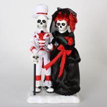 "Walmart: 20"" Musical Animated Bride and Groom Skeleton Tabletop Halloween Wedding Figure"