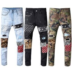 Grab a bargain today with our Patchwork Streetwear Denim Jeans. With its beautiful design, you will surely stand out from the crowd. It makes a fantastic addition to your closet. Order yours today and get the best deal in Patchwork Streetwear Denim Jeans. Moda Streetwear, Streetwear Fashion, Hip Hop, Day Date Outfits, Swag Outfits, Sport Outfits, Patchwork Jeans, Cheap Jeans, Mens Joggers