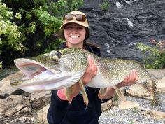 Congratulations to Lauren for catching this new World Record Northern Pike on a fly!  We'd like to think her lucky Platypus Fishing Lines hat had something to do with it.