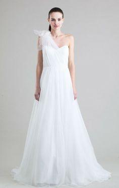 2014 gergeous A-line One-shoulder Court Train Wedding Dress
