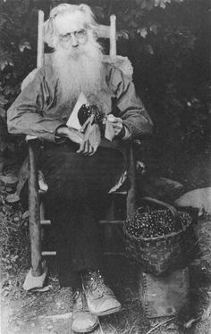 1. John N. Walker, at his home in the Great Smoky Mountains. This picture was taken by Jim Shelton, about 1918. Note the basket of fine cherries grown on his mountain farm
