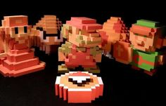 Nintendo 3D Sprites Paper Models Collection by Squeezycheesecake - == -   A nice Classic Characters and Props paper models for all fans of Nintendo videogames created by designer Squeezycheesecake and originally posted at Ultimate Papercraft website.