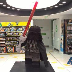 The force is strong with this one. #StarWars #Lego #LegoStarWars #DarthVader #TheForceIsStrongWithThisOne #LegoDarthVader #Praha #Prague #VisitPrague
