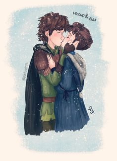 If she had her natural brown hair・Snow Kisses