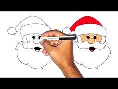 تعليم الرسم للاطفال | كيف ترسم بابا نويل How to draw santa clous | christmas - YouTube